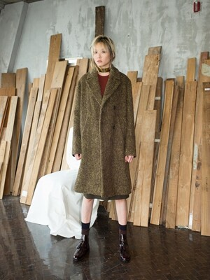 15 FW OVER FIT DOUBLE COAT- KHAKI
