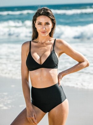 COINS OF ALTIN SOFT BRA & HIGH WAIST BIKINI_BLACK_TOP