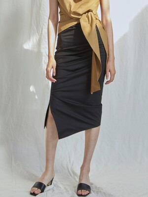 Draped Skirt - Black