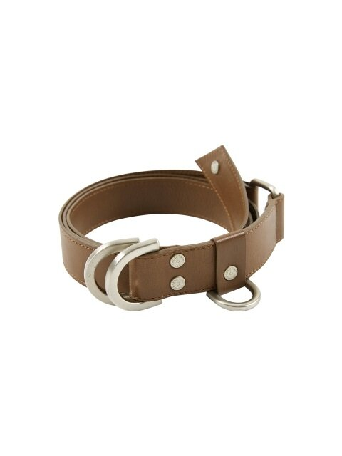 BOY LEATHER D RING BELT aaa082m(Brown)