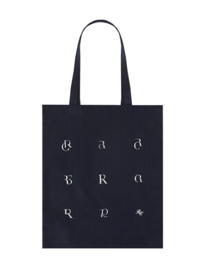 MULTI LOGO CANVAS BAG (NAVY)