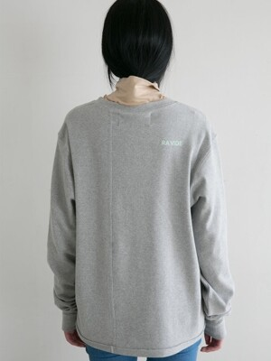 LAPPED LONG SLEEVE GREY