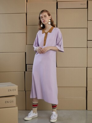 COLORATION KNIT LONG DRESS - VI