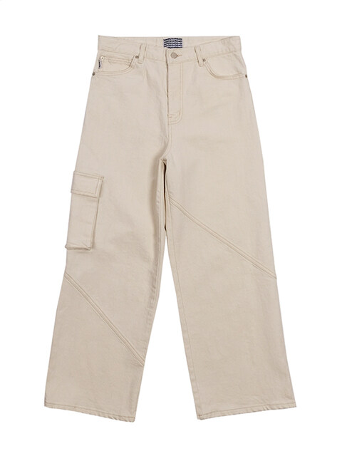 Wide pocket denim pants (iv)