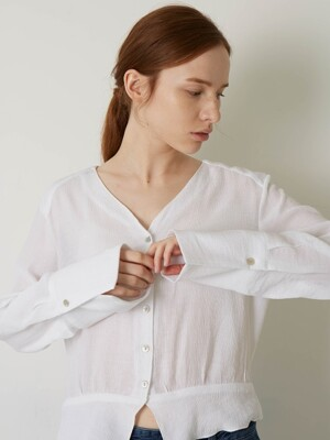 CRINKLED BLOUSE (WHITE)