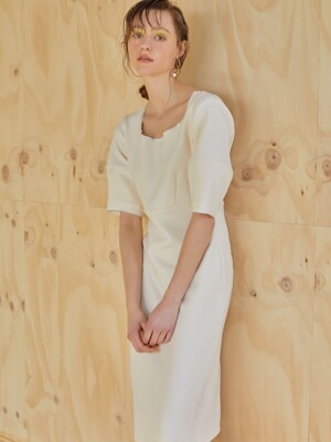 19ss - Elegance dress - cream