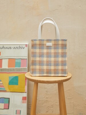 Woven tote bag - BEIGE BROWN