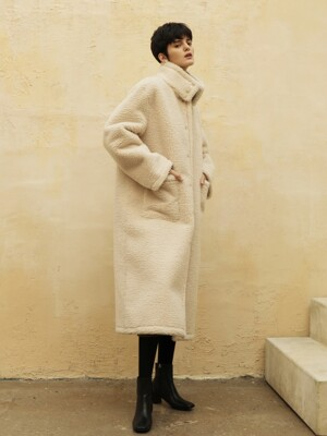 Tan reversible long coat_Beige