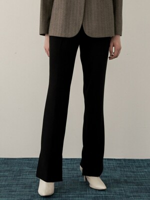 comos'223 fall unbalance-slit slacks (black)