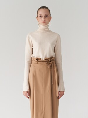 19FW WOOL TURTLENECK KNIT OATMEAL
