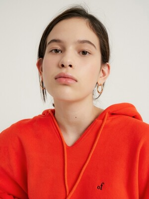 of logo hoodie top_Orange