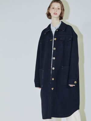 Clo loose casual coat /navy