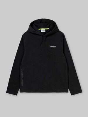 HOODED PACE SWEATSHIRT_BLACK/REFLECTIVE GREY