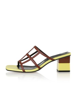 Waffle Sandals / 20SS-S431 Baby yellow+Brick brown