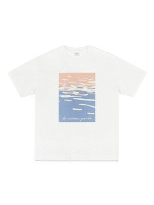 SEINE PAINTING T-SHIRT (WHITE)