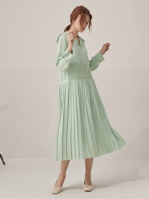 [단독] Elly pleated dress - Mint