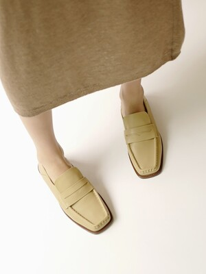 Aurelie Soft Loafers in Down Yellow Biege