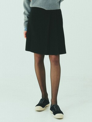 BENSIMON SET UP WOOL SKIRT - CARBON