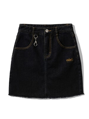 DENIM MINI SKIRT [BLACK]