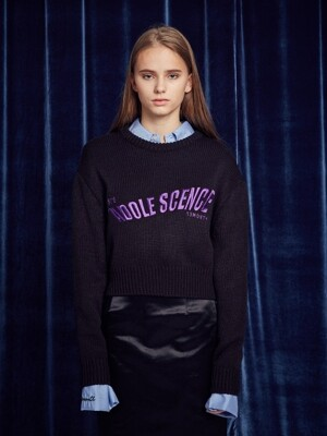 ADOLE SCENCE LONG SLEEVED KNIT(BLACK)