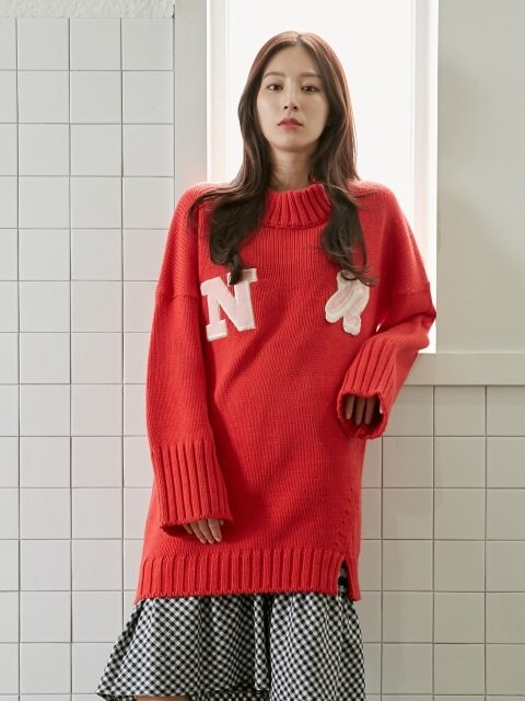 Logo Knit Dress