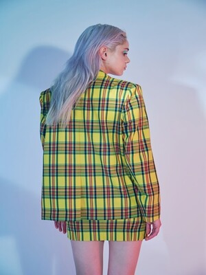 YELLOW CHECK SKIRT