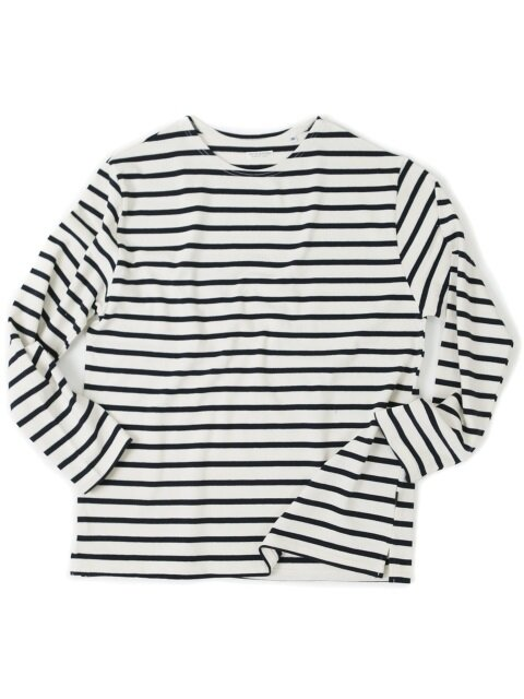 BOATNECK LONG SLEEVE[IVORY/BLACK]