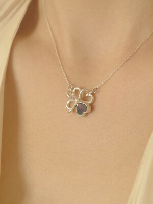 [단독]Heart Clover Necklace Silver