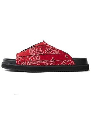 Paisly Slippers [Red]