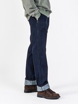 19FW COMFY FATIGUE DENIM PANTS INDIGO