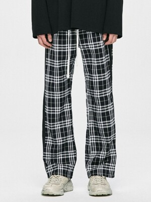 Check Track Pants - Black/Black