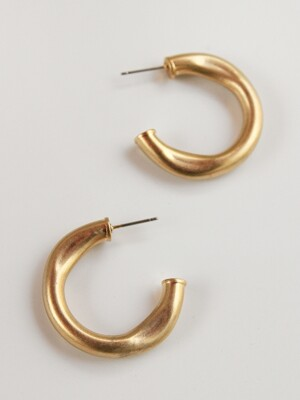 Chunky push hoop earring (2color)