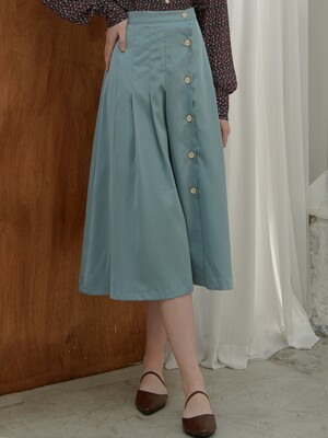 [By Joorti] J402 silky pleats skirt (mint)