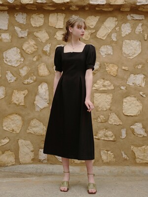 Rose Vine Dress Long (Black)