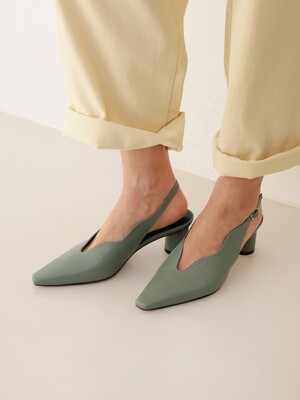 [at SALONDEJU] Wave Slingback - Herb Garden