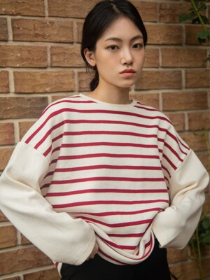 Striped T-shirt_red