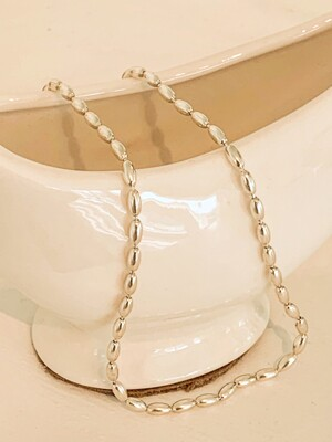 Egg ball silver necklace & choker
