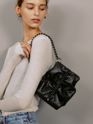 번백 Bun bag S lambskin - black 10도