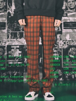 U.K PUNK TAILOR LOOSE SLACKS