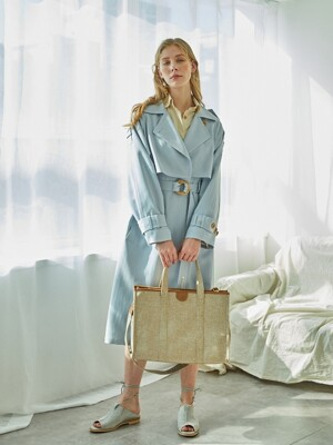 BREEZE TRENCH COAT (SOFT BLUE)