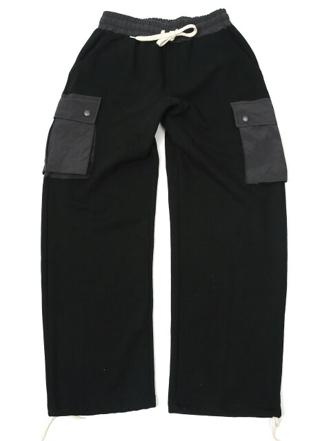 NYLON CARGO SWEAT PANTS (BLACK)