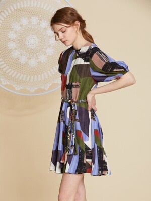 AHIN RESORT PATTERN DRESS [SL-DR-A188]