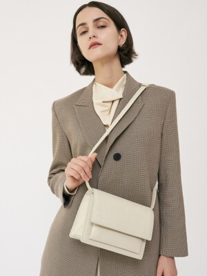 Classic Bag Medium Crocodile Texture Cream