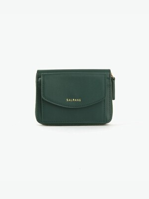 REIMS W016 Zipper poket Wallet Olive Green