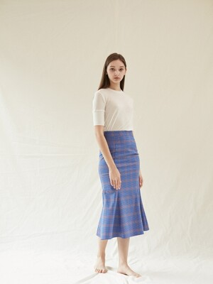 Rosh Check Skirt_Blue&Purple