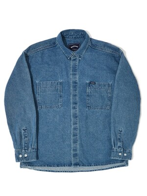 OVERSIZED DENIM SHIRT (DENIM)