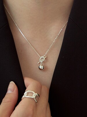 mini ball necklace-silver925
