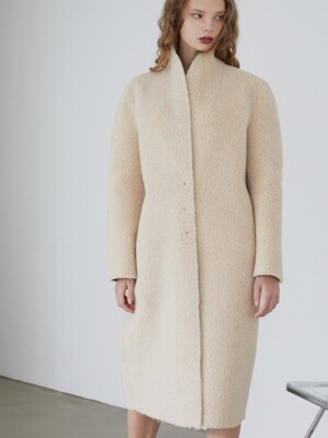 BEIGE FUR MUSTANG COAT
