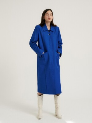 Square single trench coat