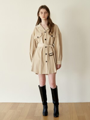 2Way Corduroy Dress_Beige